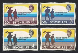 Seychelles Human Rights Year 4v SG#249-252