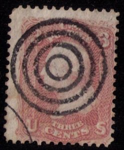 US Sc 64b Complete Target Cancellation USED Fine Cat. $160