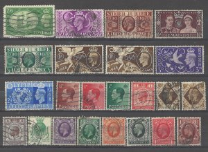 COLLECTION LOT # 4255 GREAT BRITAIN 23 STAMPS 1929+ CV+$19
