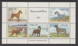 Ireland 567a Dogs Souvenir Sheet MNH VF