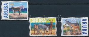 Aruba stamp Rare animals: wild donkeys set MNH 1999 Mi 229-231 Animals WS231144