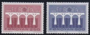 Faroe Islands 106-107 MNH (1984)