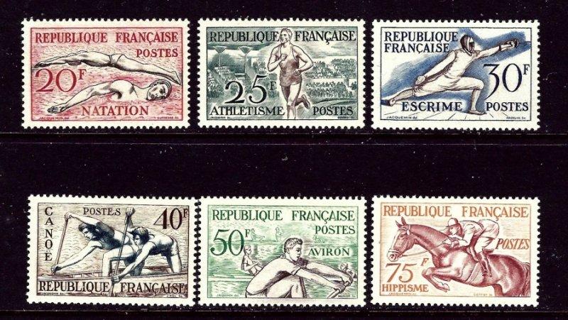France 700-05 MNH 1953 Sports    (ap4276)