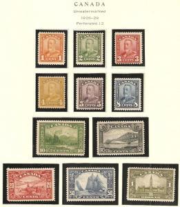 1928-9 Canada Scott 149-159 King George V & Scenes MNH
