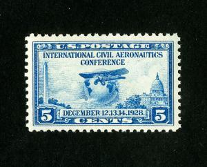 US Stamps # 650 Jumbo Rare OG NH