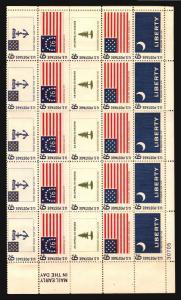 Historic Flag Series 1354a Botanical Congress 1379a FULL SHEETS MH DISTURBED GUM