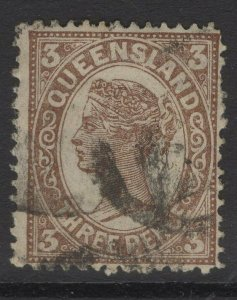 QUEENSLAND SG240 1898 3d BROWN USED