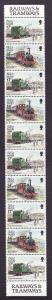 Isle of Man-Sc#356b-unused NH booklet pane-Trains-Locomotives-1988-