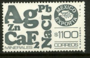 MEXICO Exporta 1590 $1100P Minerals w/oBurelage Paper 10 MNH