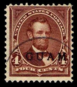 1899 GUAM #4 US#280A OVERPRINTED - WMK 191 - USED - F/VF - CV$131.25 (ESP#0442)