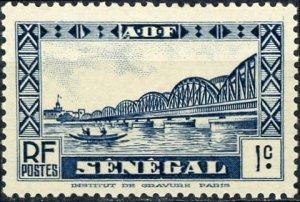 Senegal #142 1c Faidherbe Bridge St. Louis Unused/H