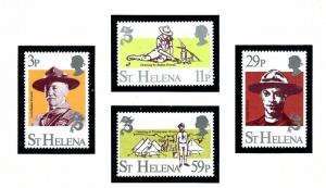 St Helena 378-81 MNH 1982 Boy Scouts