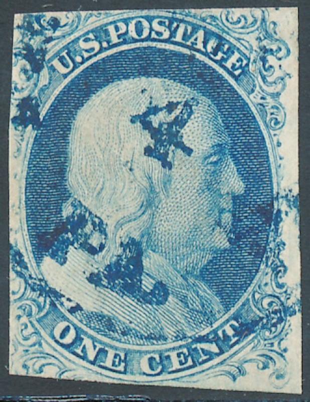 #9 POS.7R1L POOR MAN'S #5 VF BLUE TOWN CDS W/ CERT HV3269