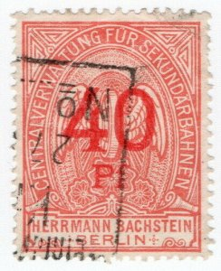 (I.B) Germany Railway : Berlin 40pf (Herrmann Bachstein)