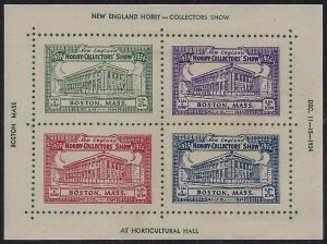1934 Hobby - Collectors Show Cinderella Poster Stamp Boston, MA Dec 11-15 MLH