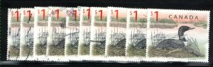 Canada #1687   (10) Loons  used VF 1998  PD