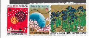 Japan #1023-1025  set   (U) CV $1.05