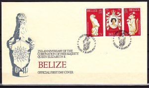 Belize, Scott cat. 397. Coronation issue. First day cover. ^