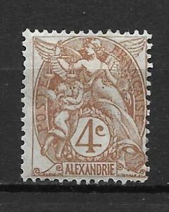 France Offices in Egypt - Alexandria 19 4c single MH