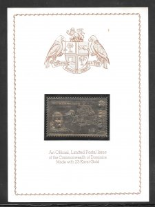 Dominica Great First in Aviation First Moon Walker Gold Stamp