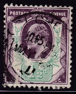 Great Britain 1902 King Edward VII 1/2d violet&green VF/Used(*)