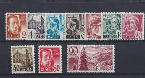 Germany (Baden), 5N28-5N40, Occupation Stamps Singles, **MNH**, (LL2019)