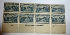 #240 50 cent Columbian plate block