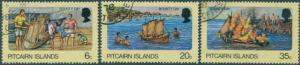 Pitcairn Islands 1978 SG185-187 Bounty Day set FU