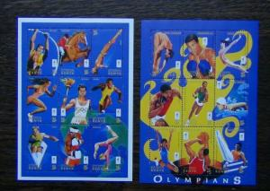 Kenya 1996 Olympic Games 1st Issue both Miniature Sheets MNH