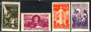 Romania; 1947; Sc. # 637-638, B346-B347; **/MNH Cpl. Set