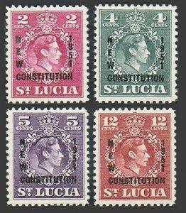 St Lucia 152-155,MNH.Michel 141-144. George VI.NEW CONSTITUTION 1951.
