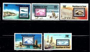 Chad 327;C206-09 MNH 1977 Zeppelin Anniversary