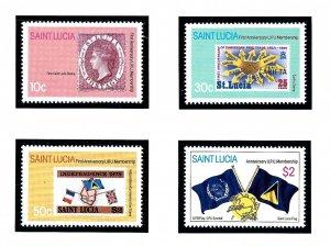 St Lucia 568-71 MNH 1981 UPU Membership Anniv   (KA)