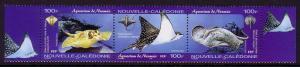 New Caledonia Noumea Aquarium 3v se-tenant SG#1315-1317