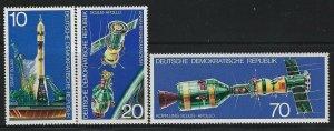 GERMANY DDR - #1683-#1685 - 1975 APOLLO SOYUZ MINT SET MNH