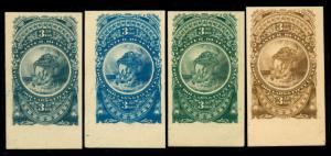 momen: US Stamps Turner Essay #76-A 4 Shades Corners
