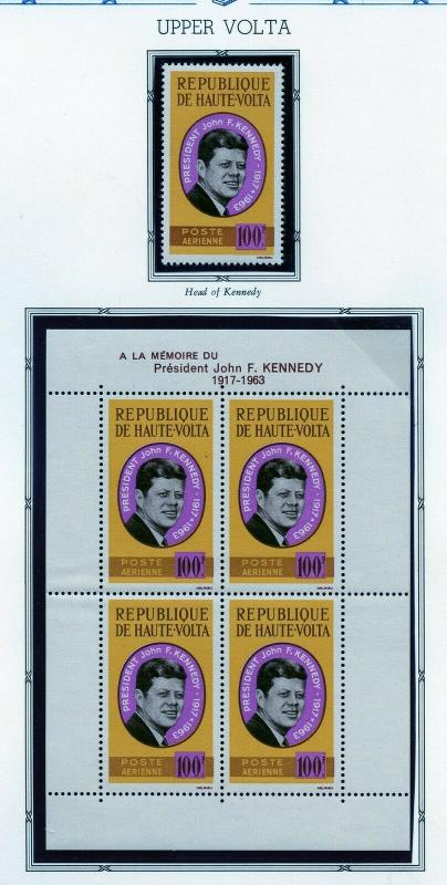 JOHN F. KENNEDY MEMORIAL FRENCH COLONIES SETS & SHEETLET  MINT NEVER HINGED