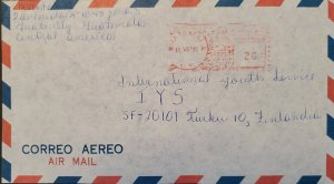 A) 1977, GUATEMALA, METER STAMP, SHIPPED TO FINLAND, AIRMAIL, XF