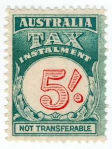 (I.B) Australia Revenue : Tax Instalment 5/-
