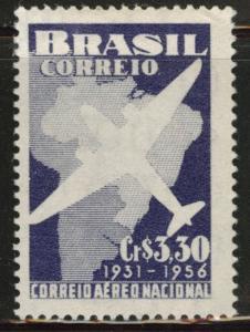 Brazil Scott 836 MH* stamp pen mark in gum