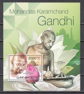 Guinea Bissau, 2012 issue. Mahatma Gandhi s/sheet. ^