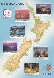 New Zealand # 1254a, New Zealand at Night, Souvenir Sheet, NH, 1/2 Cat.