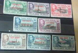 Falkland Islands Dependencies South Orkneys  Scott #1-8mnh
