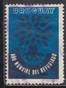 Uruguay 657 World Refugee Year 1960