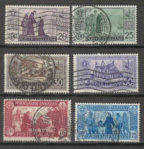 COLLECTION LOT # 5411 ITALY #258-63 1931 CV+$31