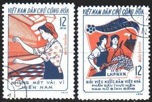 Vietnam. 1974. 761-62. Women's movement, three responsibilities. USED.