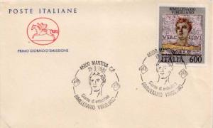 Italy, First Day Cover, Art