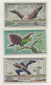 Central African Rep. C1-C3  Set. MH
