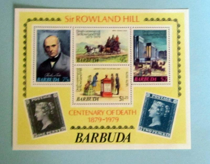 Barbuda - 384a, MNH S/S Imperf.  Roland Hill. SCV - 1.40