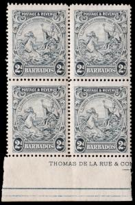 Barbados Scott 169 Block of 4 (1925) Mint LH F-VF C